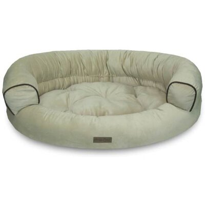 Comfy Pooch Deluxe Couch with Plush Polyester Top Color: Neutral Beige