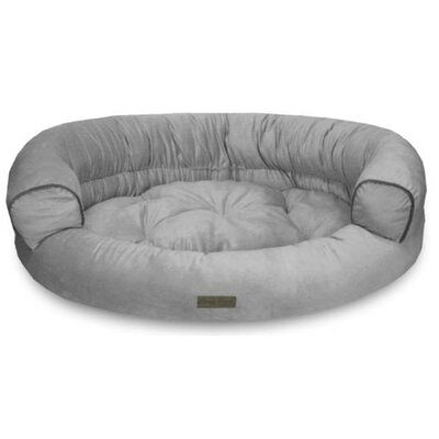Comfy Pooch Deluxe Couch with Plush Polyester Top Color: Gray