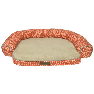 Comfy Pooch Printed Bed Color: Spice Red, Size: 22 L x 17 W