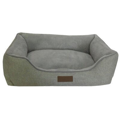Comfy Pooch Bed Bolster Color: Gray, Size: Small (20 L x 16 W)