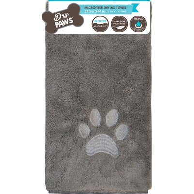 Comfy Pooch Dog Towel Mat Color: Gray