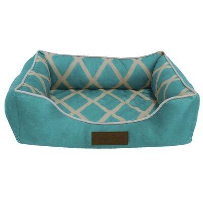 Comfy Pooch Meggie Pet Bed Color: Spa Blue, Size: Small (20 L x 16 W)