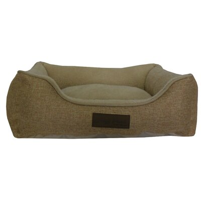 Comfy Pooch Bed Bolster Color: Beige, Size: Small (20 L x 16 W)