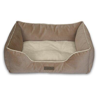 Comfy Pooch Bed Bolster Color: Beige Herringbone