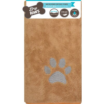 Comfy Pooch Dog Towel Mat Color: Beige