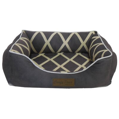 Comfy Pooch Meggie Pet Bed Color: Gray, Size: Small (20 L x 16 W)