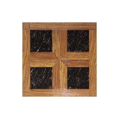 "Home Dynamix 16"" x 16"" Vinyl Tiles in Paramount Woodtone/Black Marble at Sears.com"