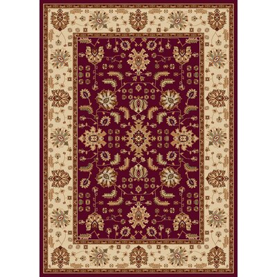 Madlena Red / Ivory Oriental Rug Rug Size: Heart 23 x 33