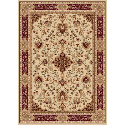 Madlena Ivory/Red Area Rug Rug Size: 7'10