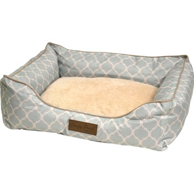 Comfy Pooch Printed Bed Size: 28 L x 20 W, Color: Light Blue