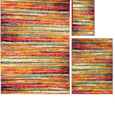 Montana Multi-Colored Area Rug Rug Size: 33 x 43