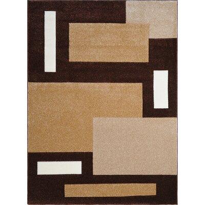 Sumatra Brown Cubes Area Rug Rug Size: 27 x 46