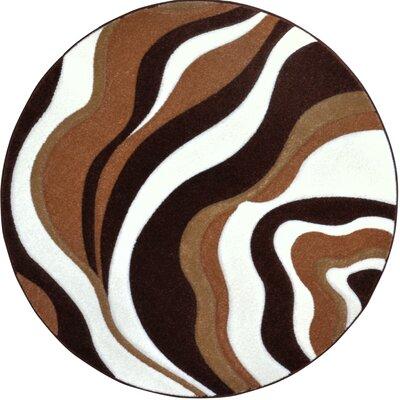 Sumatra Waves Area Rug Rug Size: Round 710