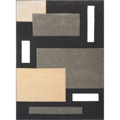 Sumatra Gray Cubes Area Rug Rug Size: Rectangle 52 x 72
