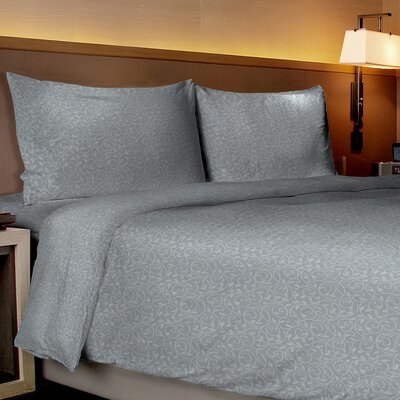 Aylin Vine 80 GSM Sheet Set Size: King, Color: Grey