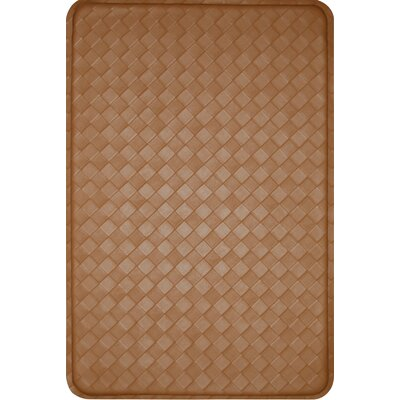 Feel At Ease Geometric Doormat Size: 24 x 36, Color: Khaki