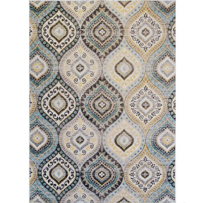 Salina Aqua Indoor/Outdoor Area Rug Rug Size: 52 x 72