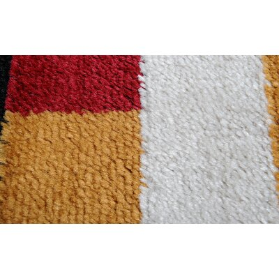 Dennis Red Area Rug Rug Size: 52 x 72