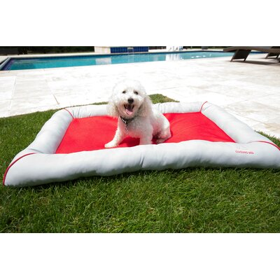 Comfy Pooch Cooling Mesh Bed Color: Red, Size: Small (31.5 L x 24 W)