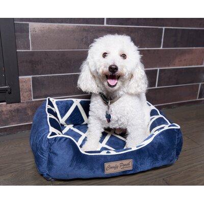 Comfy Pooch Meggie Pet Bed Size: Large (28 L x 20 W), Color: Navy Blue