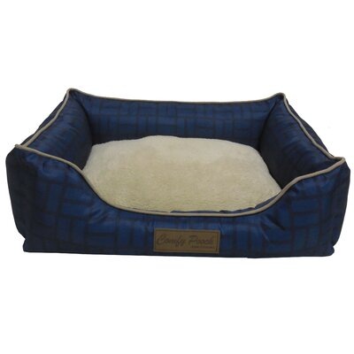 Comfy Pooch Bed Color: Navy Blue, Size: Small (20 L x 16 W)