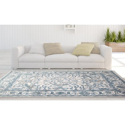 Gloria Ivory/Blue Area Rug
