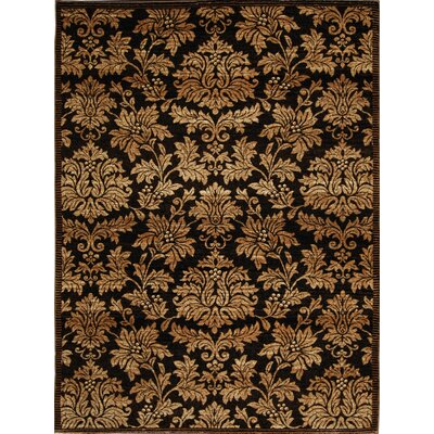 Triumph Black/TanArea Rug Rug Size: Rectangle 52 x 76