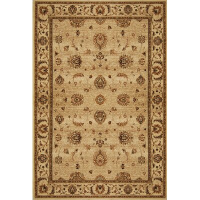 Triumph Beige Area Rug Rug Size: Rectangle 92 x 125
