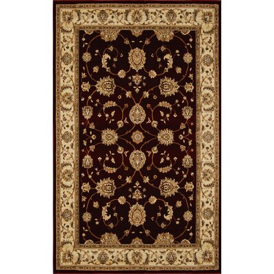 Triumph Red Area Rug Rug Size: Rectangle 78 x 102