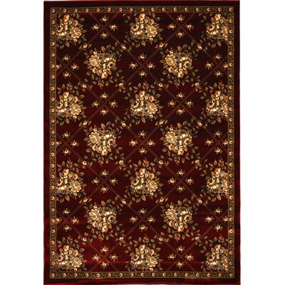 Triumph Red Area Rug Rug Size: 52 x 76