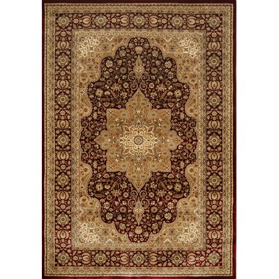 Triumph Red Area Rug Rug Size: Rectangle 92 x 125