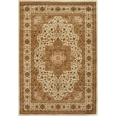 Triumph White Area Rug Rug Size: Rectangle 52 x 76
