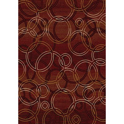 Royalty Red Contemporary Rug Rug Size: 52 x 72