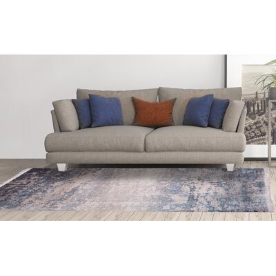 Favor Dark/Blue Area Rug Rug Size: 53 x 77