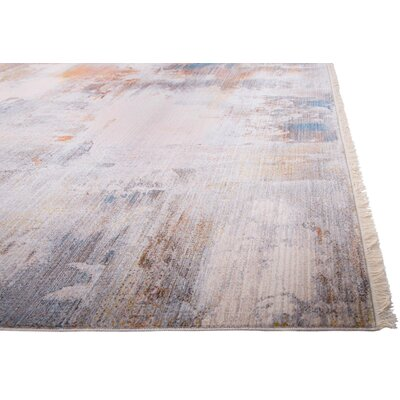 Bulter Gray/Brown Area Rug Rug Size: 53 X 77