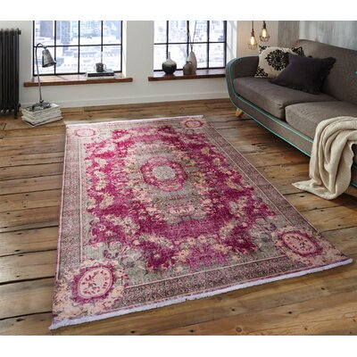 Faunia Burgundy Area Rug Rug Size: Rectangle 26 x 42