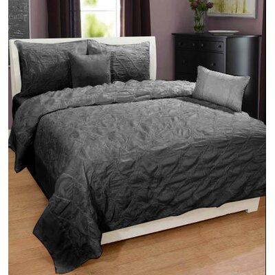 Hodge 100% Cotton 3 Piece Duvet Set Size: King, Color: Gray