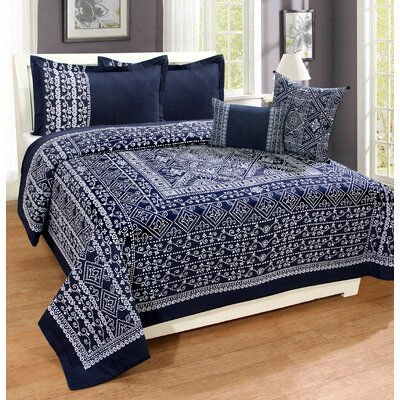 Cendrillon 100% Cotton 3 Piece Duvet Set Size: King