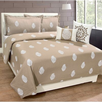 Cherell 100% Cotton 3 Piece Duvet Set Size: King