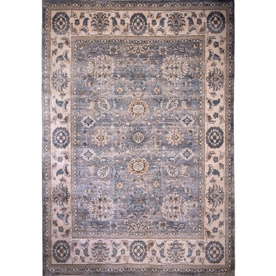 Itasca Traditional Gray Area Rug Rug Size: 92 X 122