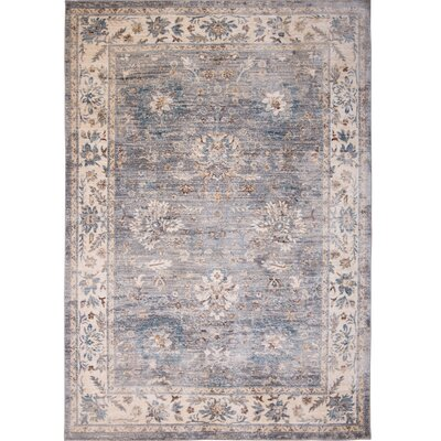 Itasca Gray Area Rug Rug Size: 52 X 77