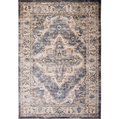 Itasca Gray/Ivory Area Rug Rug Size: 311 X 511