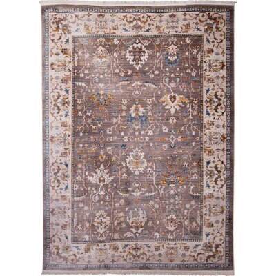 Irvington Brown Area Rug Rug Size: 53 x 77