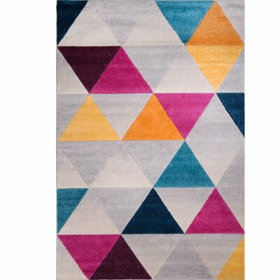 Prendergast Gray Area Rug Rug Size: 52 x 72