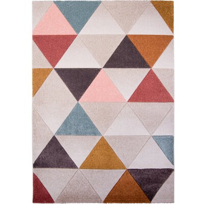 Prendergast Gray/Brown Area Rug Rug Size: 52 x 72