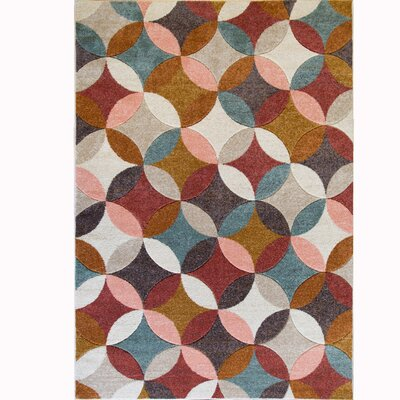 Dufresne Brown Area Rug Rug Size: 52 x 72