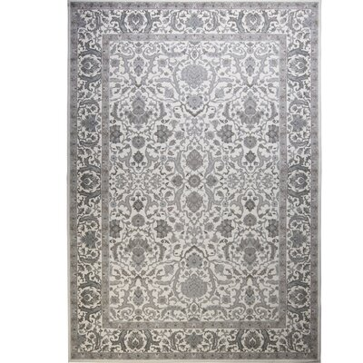 Kayo Bordered Ivory Area Rug Rug Size: Rectangle 79 x 102