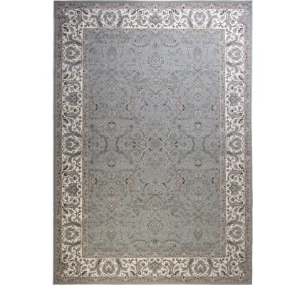 Kayo Bordered Gray/Ivory Area Rug Rug Size: Rectangle 92 x 125