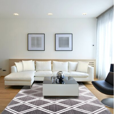 Hensley Gray/Ivory Area Rug Rug Size: Rectangle 710 x 102