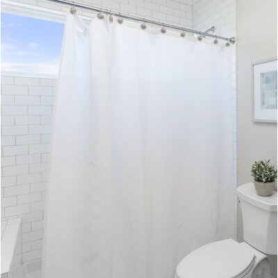 Wayfair Basics Vinyl Shower Curtain Liner Color: Clear